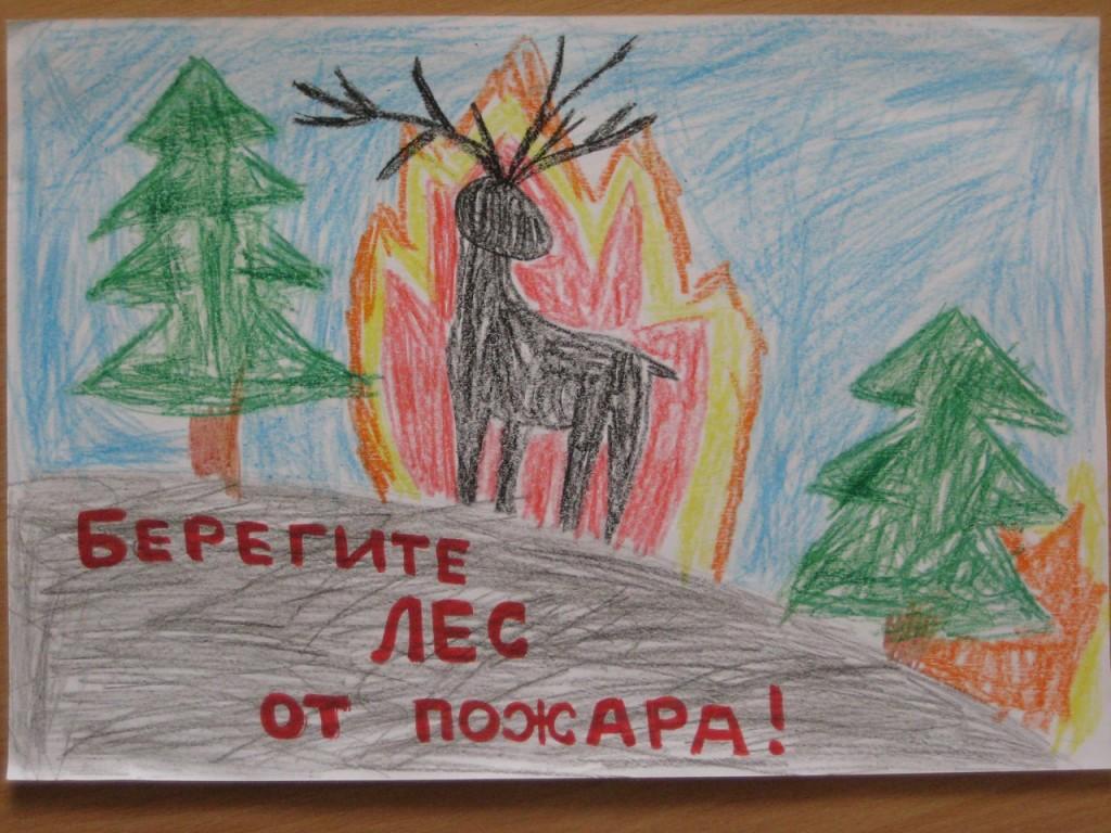 Берегите лес от пожаоа Коньков Павел, 6 лет